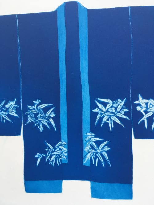 Art & Wall Decor by Anna Toppin seen at Private Residence, Mistley - Blue Bright Bamboo Kimono