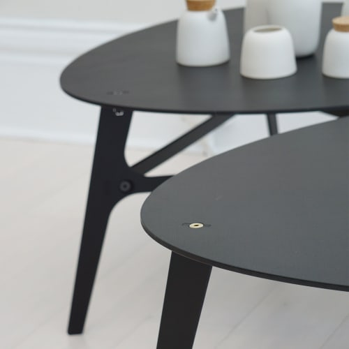 Tables by PATH seen at Private Residence, San Francisco - Oblique Tenon Coffee Table