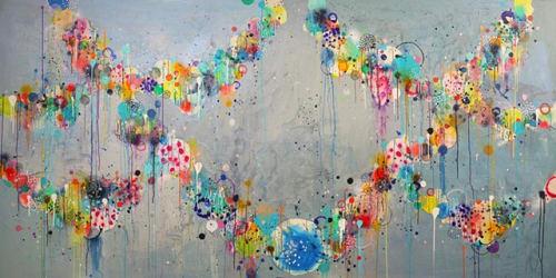 Paintings by Liz Tran seen at Vulcan Inc, Seattle - Lovelace