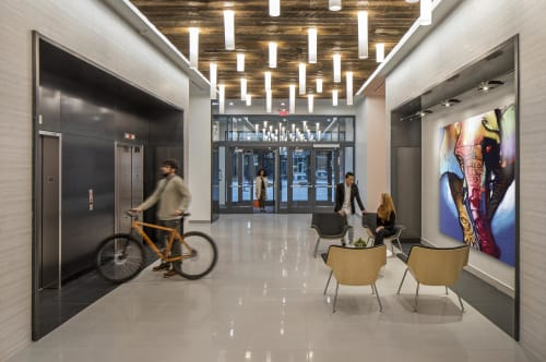 Interior Design by Studio | BRiNK seen at Hudl (Agile Sports Technologies), Lincoln - Hudl Headquarters Building- Core + Amenity Spaces