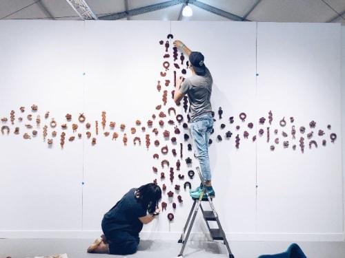 Sculptures by Windy Chien seen at PULSE Art Fair, Miami Beach - Knot Installation