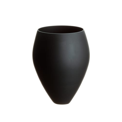 Cups by SGHR Sugahara seen at Creator's Studio, Chiba - RELAX Handcrafted Matte Black Glass 9.5oz
