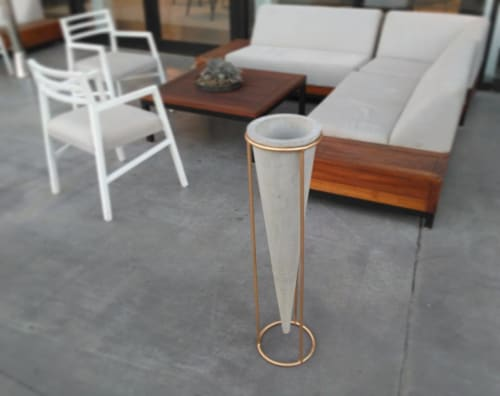 Vases & Vessels by Linski Design - Concrete Art seen at Private Residence - Concrete Casted Cone