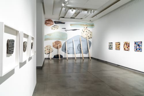 Murals by Tessa G. O'Brien seen at Institute of Contemporary Art, Portland - Spruce & Stones