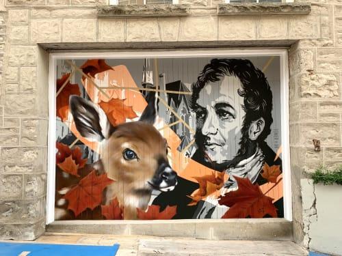 Murals by Alex Kwong seen at Guelph City Hall, Guelph - It Was Written