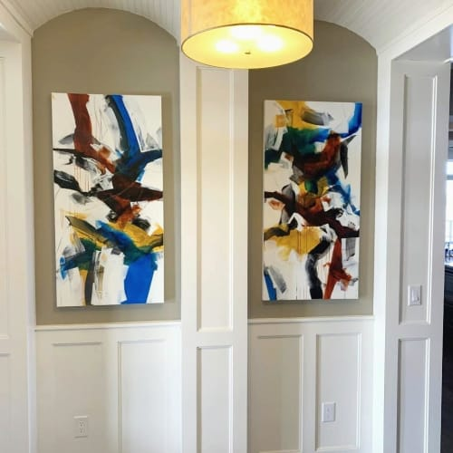 Commissioned painting Private residence, USA   Interior Design by Johanne Brouillette