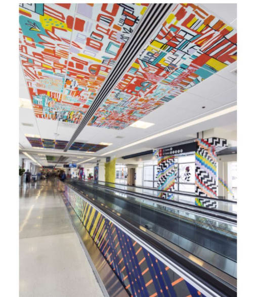 Murals by Miriam Singer seen at Philadelphia International Airport, Philadelphia - It's a Wrap