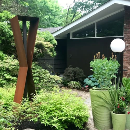 Plants & Landscape by MODFOUNTAIN Modern Fountains for Modern Landscapes seen at Private Residence, Westport - X2 Modfountain
