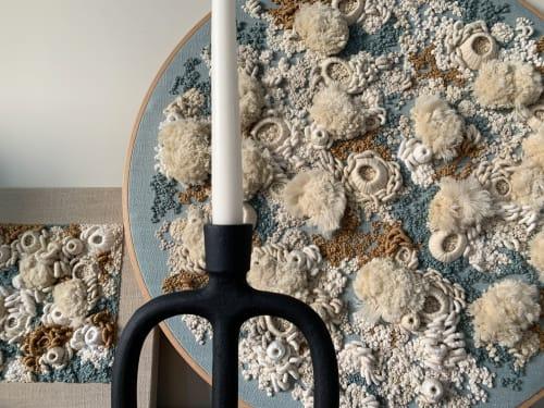 Art & Wall Decor by Helen D Wilde - Ovo Bloom seen at Creator's Studio, London - Abstract Ocean Fiber Art