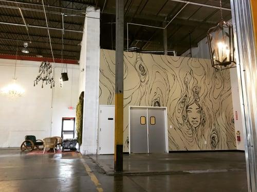 Murals by Sanithna Phansavanh at Monday Night Brewing, Atlanta - Monday Night Brewing Mural