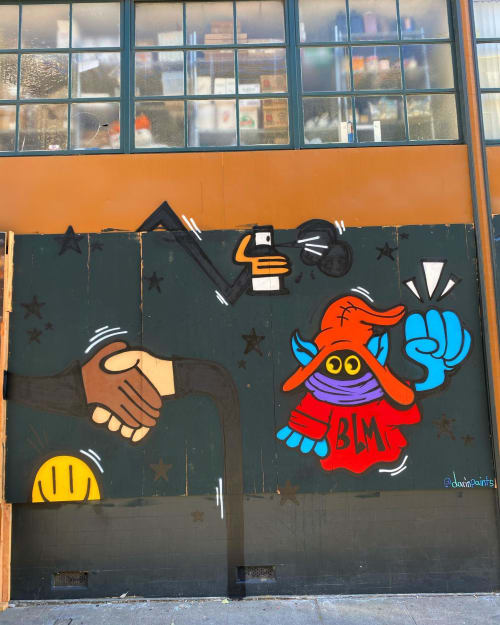Murals by Darin seen at Luka's Taproom & Lounge, Oakland - Orko is for the people