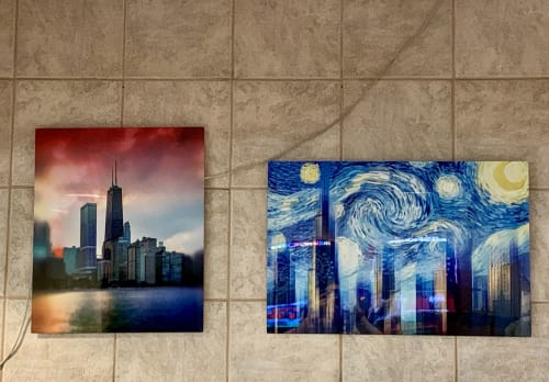 Photography by The Pigshark seen at Waveland Bowl, Chicago - Bowling Alley Artwork