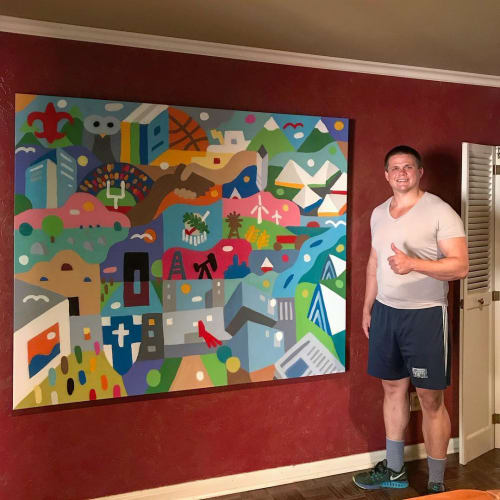 Murals by Kristopher Kanaly seen at Private Residence, Oklahoma City - Custom Mural