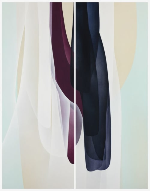 Paintings by Agneta Ekholm seen at Private Residence, Palm Beach - Phenomenon 180 x 140cm Diptych