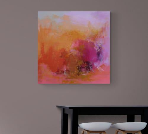 Paintings by Valerie McMullen seen at Creator's Studio, Phoenix - Firestorm