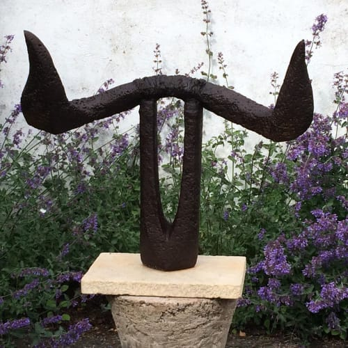 Public Sculptures by Caro Burberry seen at Sculpture Trails Outdoor Museum, Solsberry - Holy Cow