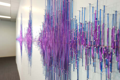 Art & Wall Decor by ANTLRE - Hannah Sitzer seen at 151 S Almaden Blvd, San Jose - Soundwave sculpture for Adobe Premiere