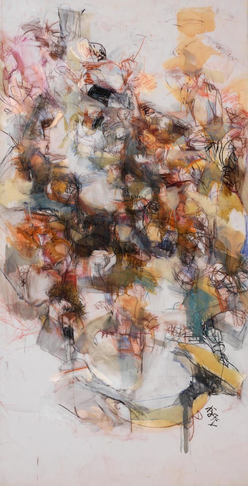 Paintings by Kayo Albert seen at A.C. Studios | Alpharetta Ceramic Pottery Studio, Alpharetta - M102