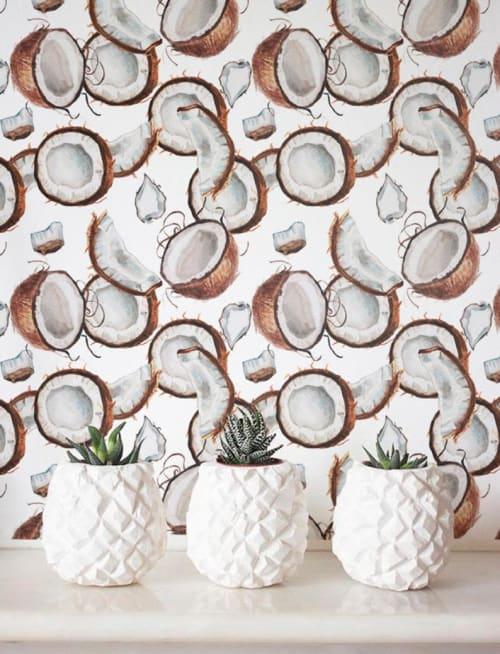Wallpaper by Jumanjii seen at BATLLÓ CONCEPT, Donostia - Coconut Jungle Wallpaper