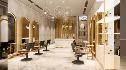 Architecture by Studio Hiyaku seen at Macarthur Square, Campbelltown - Styland Hair and Beauty