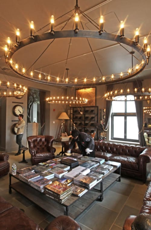 Chandeliers by Form & Reform seen at Restoration Hardware, Boston - RH Camino