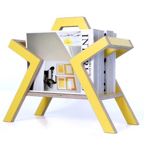 Farleigh Colour Magazine Rack | Furniture by CHARLIE CAFFYN FURNITURE