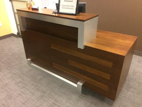 Furniture by Heirloom Custom Woodworks LLC seen at Lake Calhoun Executive Center, Minneapolis - Reception desk
