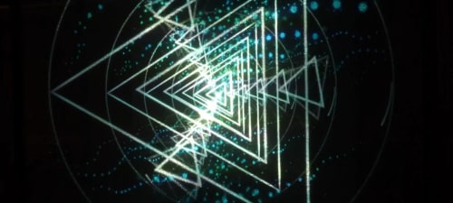 Lighting by Klip Collective seen at Philadelphia, Philadelphia - Vertex Projection Chandelier