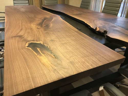 Tables by 6 X 6 Designs seen at 7134 E Stetson Dr, Scottsdale - Walnut Slab Conference Table