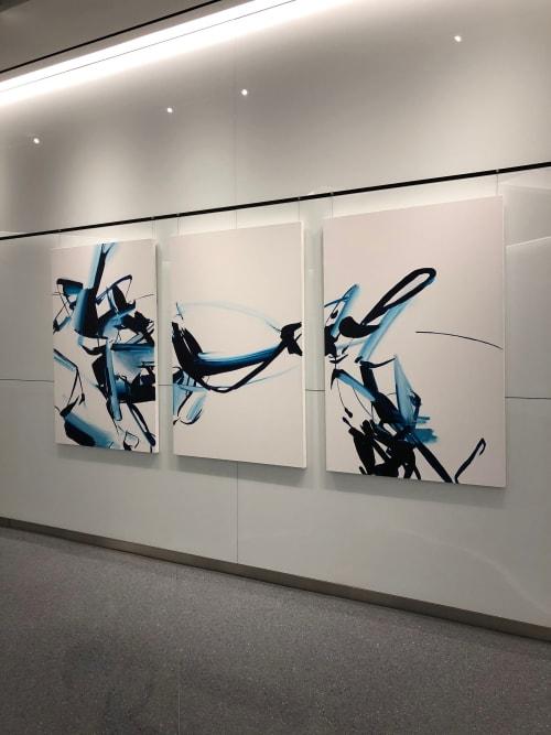 Paintings by John Platt seen at The Marmara Park Avenue, New York - Midnight Rambler