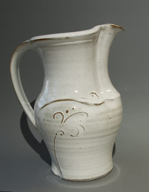 Vases & Vessels by Kajsas Konst & Keramik seen at Private Residence, Kivik - Large Stoneware Pitcher, Thrown and Altered