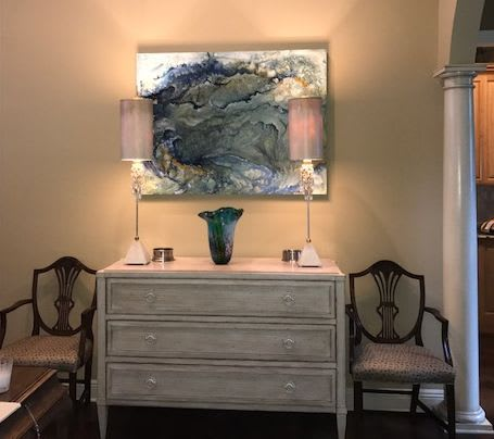 Paintings by Kim Howes Zabbia seen at Private Residence, Hammond - Submerge III
