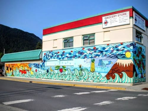 Wall Mural by Cara Jane Murray seen at Market Center, Sitka | Wescover