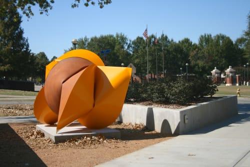 Public Sculptures by Jeremy Thomas Studio seen at University of Arkansas, Fayetteville - Triumph Yellow
