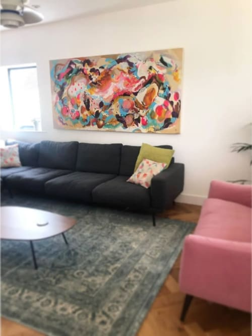 Paintings by Emily Bartlett seen at Private Residence, Liverpool - Hand Made 1x2 Meter painting