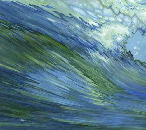 Paintings by Margaret Juul seen at Private Residence, Los Angeles - Fluid Motion
