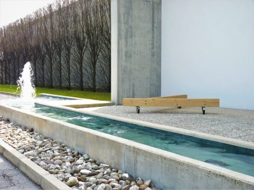 Benches & Ottomans by Bedont seen at Private Residence, Fara Vicentino - Timber bench