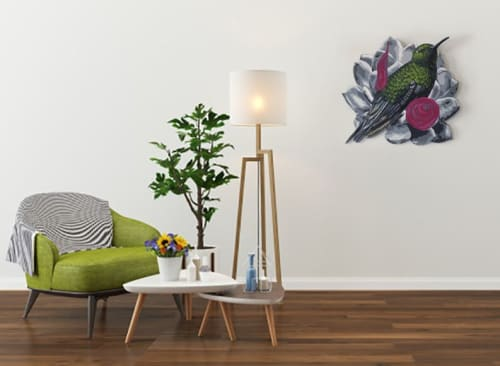 Art & Wall Decor by Sophy Tuttle seen at Private Residence, Lowell - Colibri Hummingbird Wall Piece