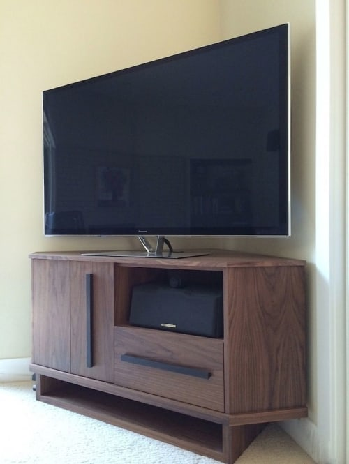 Furniture by Jason Lees Design seen at Private Residence, Walnut Creek - Custom JLD Facet Media Cabinet