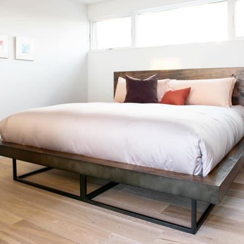 Beds & Accessories by Morgan Clayhall seen at Private Residence, Toronto - Wood Bed
