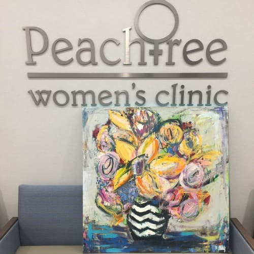 Paintings by Jennifer Ferris Fine Art seen at Peachtree Women's Clinic, Atlanta - Abstract Painting