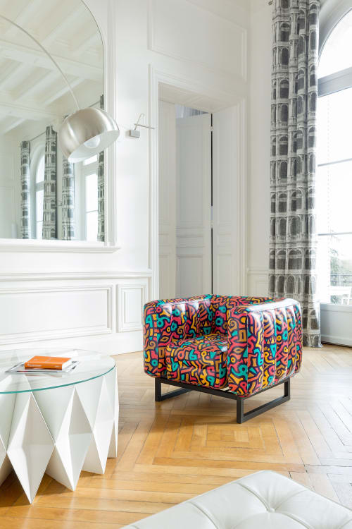 Chairs by MOJOW seen at Creator's Studio, Paris - Yomi Tagline Armchair