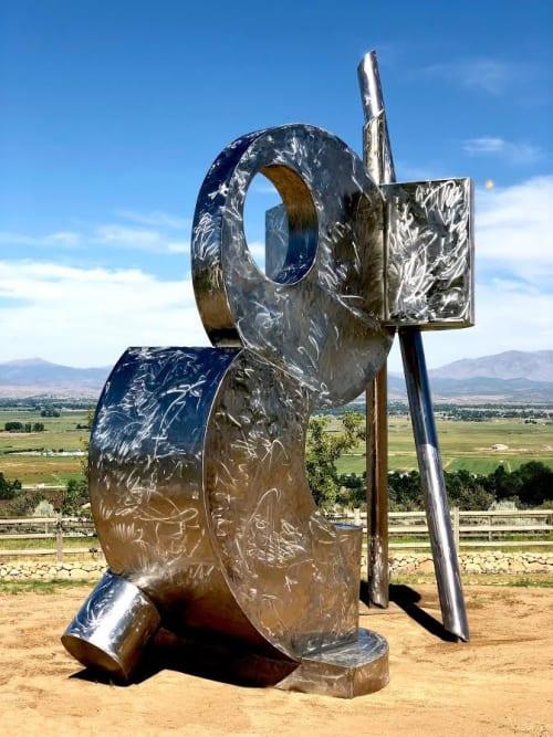 Public Sculptures by Russ Connell Metalworks seen at Gardnerville, Gardnerville - Juggernaut