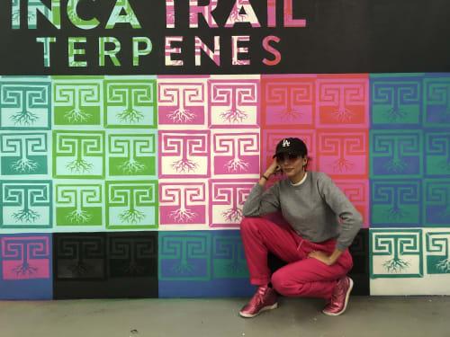Inca Trail Terpenes Company Logo Mural | Murals by Nicki Deux | Inca Trail Terpenes in Los Angeles