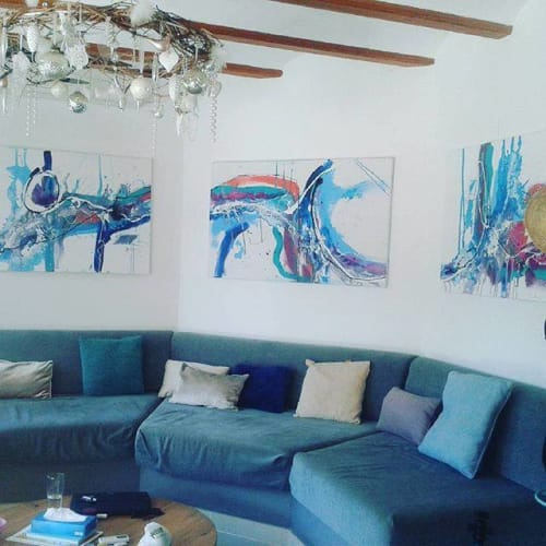 Paintings by Abi Fantastic seen at Private Residence, Valencia - Abi Fantastic