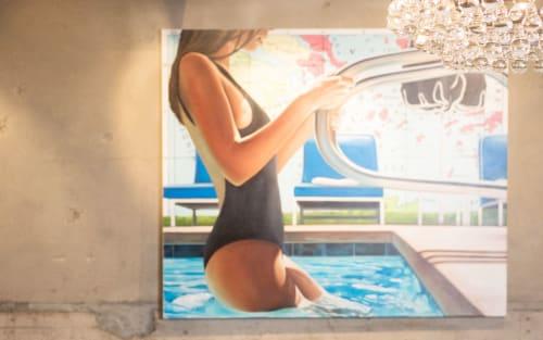 Paintings by Ryan Jones seen at Hughes Marino, San Diego - Hughes Marino Cooperate Headquarters