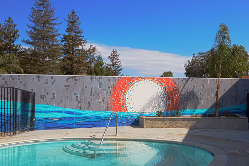 Murals by Erik Otto seen at pksl apartments, Sunnyvale - Pixel