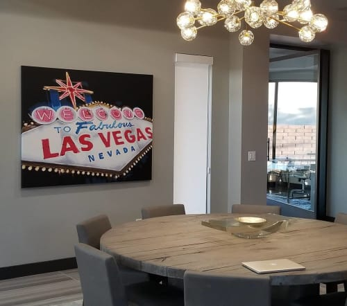"""Paintings by Jerry Misko seen at Private Residence, Las Vegas - """"Fab Force"""""""
