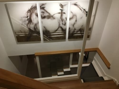 Paintings by Donna B Fine Art seen at Private Residence, London - Two Horses