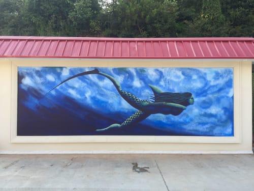 "Murals by Kai'ili Kaulukukui seen at Huaquan, Jiujiang - ""Mano Wahine"""